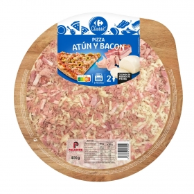 Pizza de atún y bacon Carrefour 400 g.