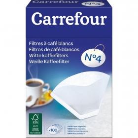 Filtros de Café CARREFOUR 100 ud - Blanco