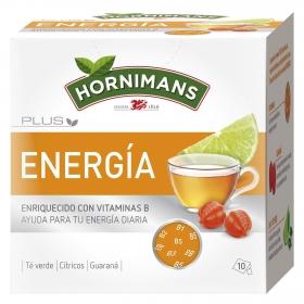 Infusión Plus Energia enriquecido con vitaminas B en bolsitas Hornimans 10 ud.