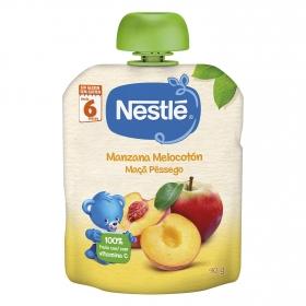 Preparado de manzana y melocotón Nestlé sin gluten 90 g.