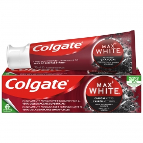 Dentífrico Max White Carbón Colgate 75 ml.