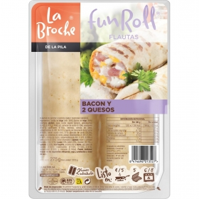 Flauta bacon/queso La Broche 235 g.