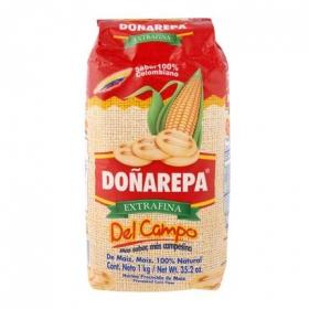 Harina de maíz extra fina Doña Arepa 1 kg.