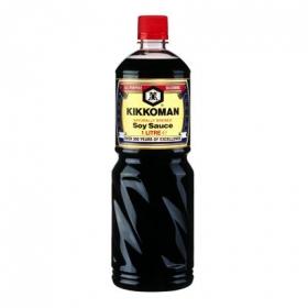 Salsa de soja Kikkoman botella 1 l.