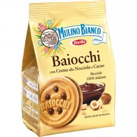 Galletas rellenas de cacao baiocchi Mulino Bianco Barilla 330 g.