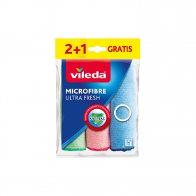 Bayeta Microfibra VILEDA Ultra Fresh 3 ud -Surtido