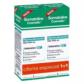 Desodorante roll on Hipersudoración Somatoline Cosmetic pack de 2 unidades de 40 ml.