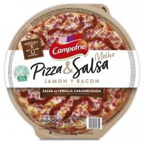 Pizza de jamón y bacon con cebolla caramelizada Campofrío 360 g.