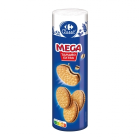 Galletas rellenas de crema de chocolate Carrefour 500 g.