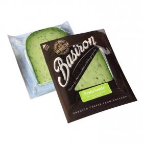 Queso gouda al pesto verde Basiron Iberconseil cuña 200 g