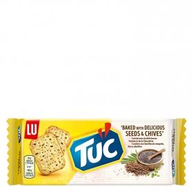Crackers original con semillas amapola y lino Tuc 105 g.