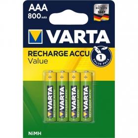 Pack de 4 Pilas Recargables Varta Aaa 800mah