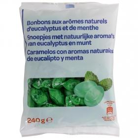 Caramelos sabor menta y eucalipto 180 g.