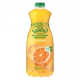 Néctar de naranja Don Simón Disfruta sin azúcar añadido botella 1,5 l.