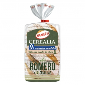 Pan de romero y 7 semillas sin azúcar añadido Panrico 385 g.
