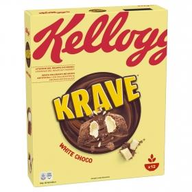 Cereales con chocolate blanco Krave Kellogg's 375 g.