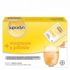 Complemento vitamínico magnesio y potasio Supradyn Bayer 14 sobres.