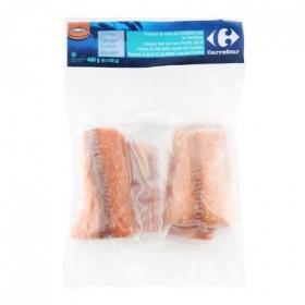 Lomos salmón Carrefour 480 g.