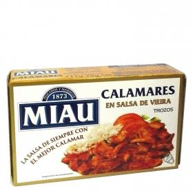 Calamares en salsa de vieira Miau 72 g.