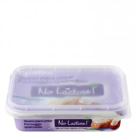 Queso para untar sin lactosa Carrefour No Lactosa 200 g.