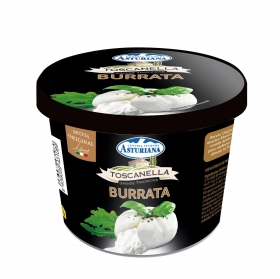 Queso fresco burrata Toscanella tarrina de 150 g.