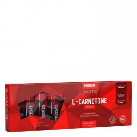 L-carnitina sabor a piña Prozis pack de 10 unidades de 10 ml.