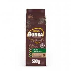 Café grano natural arábica  cultivo sostenible Nestlé Bonka 500 g.