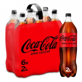 Refresco de cola Coca Cola zero pack de 6 botellas de 2 l.