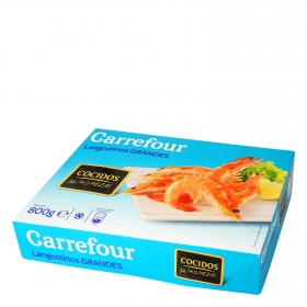 Langostino vannamei cocido 32/40 Carrefour 800 g.