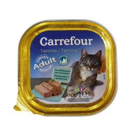 Alimento Húmedo para Gatos Bacalao y Gambas 100 gr, Carrefour