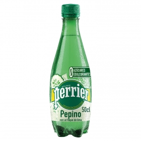 Agua mineral Perrier Cucumber natural con gas sabor pepino-lima 50 cl.