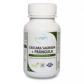 Complemento alimenticio  cáscara sagrada y frángula Sanon 60 cápsulas.