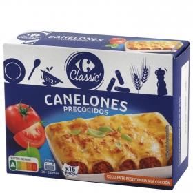 Placas para canelones precocidas Carrefour 125 g.