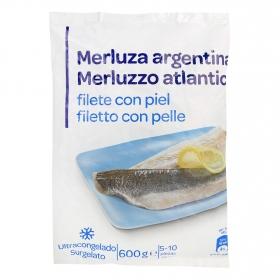 Filete de merluza con piel 600 g.