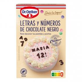 Letras y números de chocolate negro Dr. Oetker 60 g.