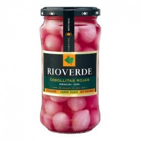 Cebollitas rojas en vinagre agridulces Rioverde 180 g.