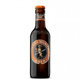 Cerveza Bock Damm Munich negra botella 25 cl.