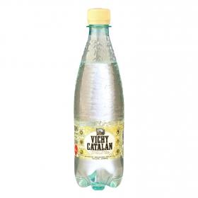 Agua mineral Vichy Catalán natural con gas 50 cl.