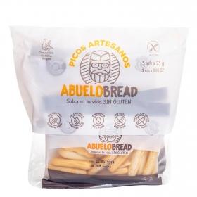 Picos artesanos Abuelobread sin gluten y sin lactosa pack de 5 unidades de 25 g.