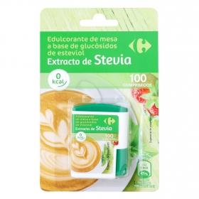 Edulcorante de mesa Stevia Carrefour 100 ud.