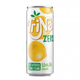 Refresco de limón Trina sin azúcar sin gas lata 33 cl.