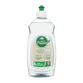Lavavajillas a mano aroma menta y romero ecológico Carrefour Eco Planet 500 ml.