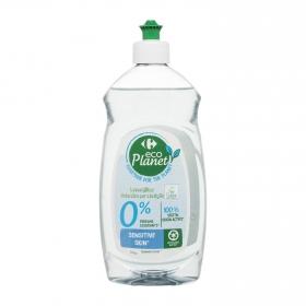 Lavavajillas a mano para pieles sensibles ecológico Carrefour Eco Planet 500 ml.