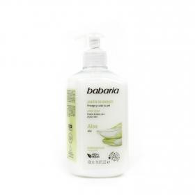 Jabón de manos con aloe vera Babaria 500 ml.
