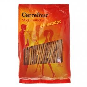 Galletas saladas sticks Carrefour 250 g.