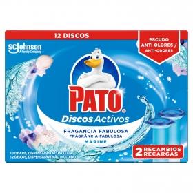 Discos activos inodoros frescor marino recambio Pato 2 ud.