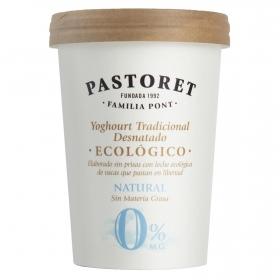 Yogur desnatado natural ecológico Pastoret 500 g.