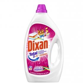 Detergente líquido adiós al separar Dixan 50 lavados.