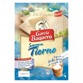 Queso tierno lonchas García Baquero 150 g.