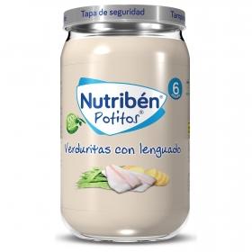 Tarrito de verduritas con lenguado desde 6 meses Nutribén 235 g.